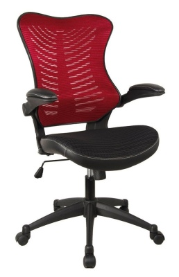Santos Mesh Task Chair With A Red Mesh Back