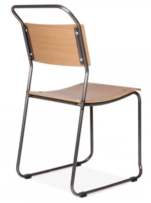Bauhaus Chair Gun Metal Frame Rear Angle