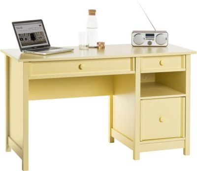 Brixham Computer Sdesk In Sherbet Yellow