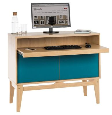 Eden Contemporary Bureau Showing Peacock Blaue Doors