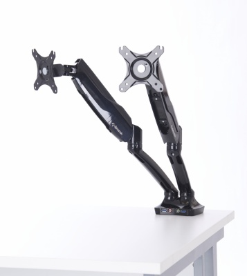 Context Dual Monitor Arm In Black