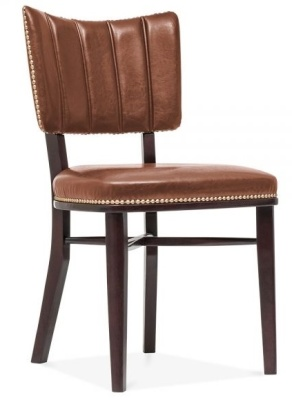 Chicago Brown Leather Dining Chair 1