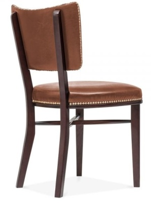 Chicago Brown Leather Chair Rear Angle
