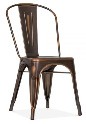 Xavier Pauchard Chair With An Antique Copper Finish Front Angle