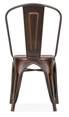 Xavier Pauchard Dining Chair With An Antique Copper Finish Rear View