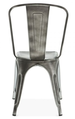 Xavier Pauchard Antique Silver Chair Rear View