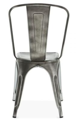 Xavier Pauchard Antique Silver Chair Rear View