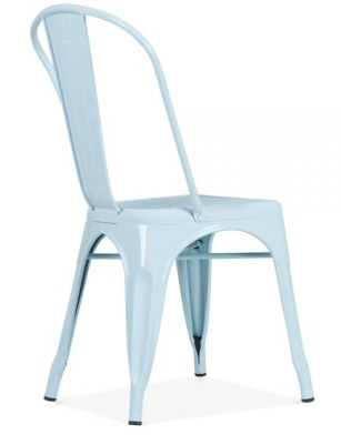 Xavier Pauchard Chair In Light Blue Rear Angle