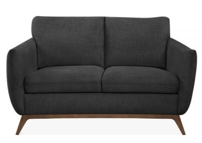 Condotr Two Seater Sofa Dark Grey Fabric