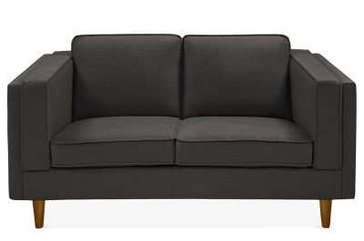 Eddie Two Seater Sofa Dark Grey