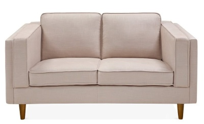 Eddie Two Seater Sofa Cream Upholstery