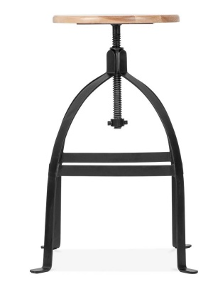 Brunel Black Industrial High Stool