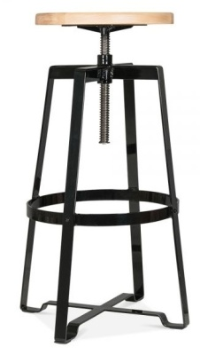 Vortex Industrial Style Machinist Stool In Black 1