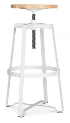 Vortex Industrial Stool White