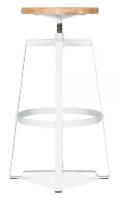 Vortex Machinist High Stool In White 3