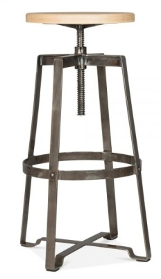 Vortex Industrial Swivel Stool Gun Metal Finish 1