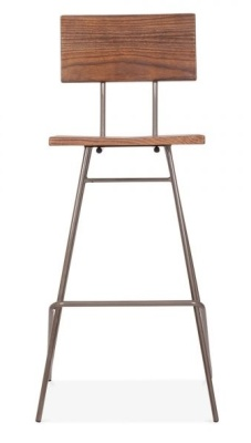 Urban Hairpin Stool Witrh A Gkun Metal Frame Front View