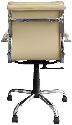 Encore Cream Leather Executive Chair Rear View