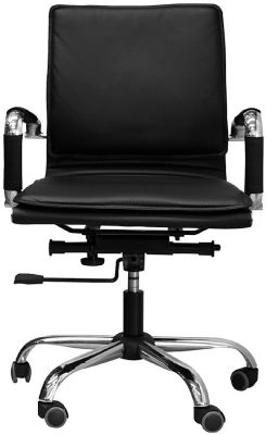 Encore Black Leather Chair Face