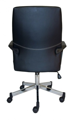 Mercos Black Leather Executive Chair Rear View