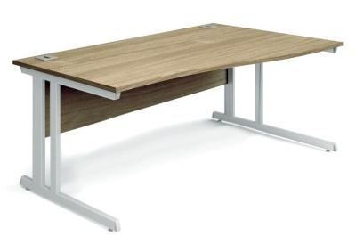 Trapido Right Hand Wave Desk Oak Top