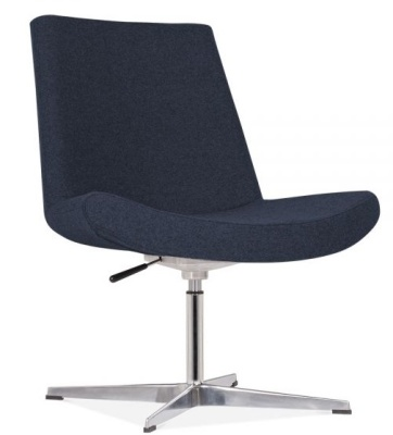 New Jersey Lounge Chair Dark Blue Angle Shot