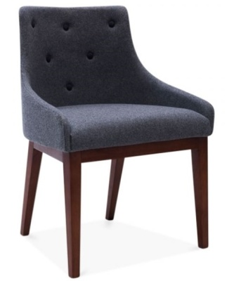 Jolly Designer Chair In Grey Front Angle