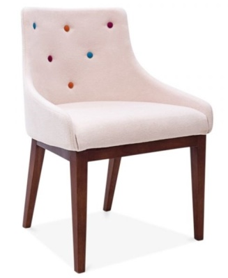 Jiolly Dining Chair Pastel Pink Front Angle Shot