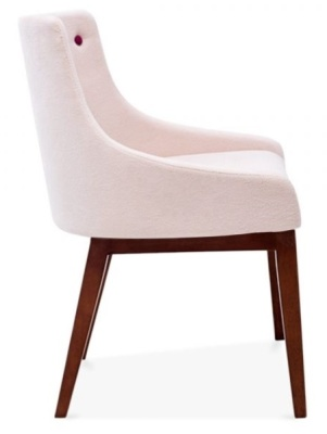 Jolly Dining Chair In Pastel Pink Side View