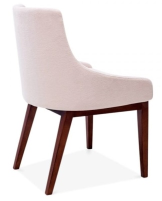 Jolly Dining Chair In Pastel Pink Rear Angle
