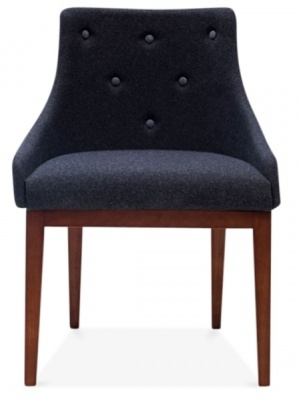 Jolly Dining Chair In Dark Grey Front Shot