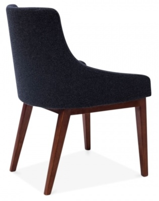 Jolly Designer Chair In Vdark Grey Rear Angle