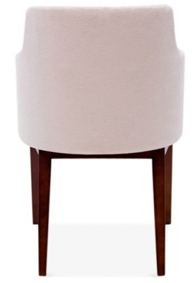 Jolly Designer Armchair In Pink Rear View