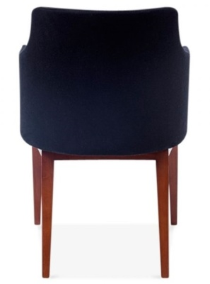 Jolly Designer Armchair In Black From Teh Rear
