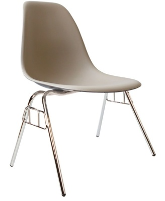 Eames DSS Chair In Beige Angle View