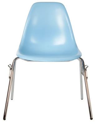 Eames Dss Chair In Light Blue Front Blue