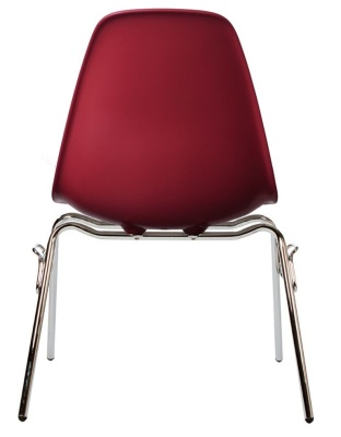 Eames Dss Chair In Burgundy Rear View