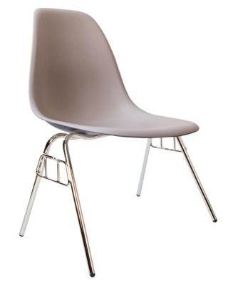 Eames Dss Chair In Light Grey Angle Shot