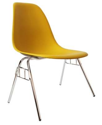 Eames Dss Chair In Mustard Angle View