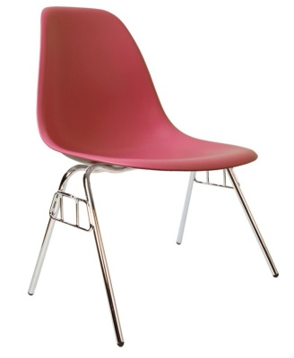 Eames Dss Chair In Pink Angle View