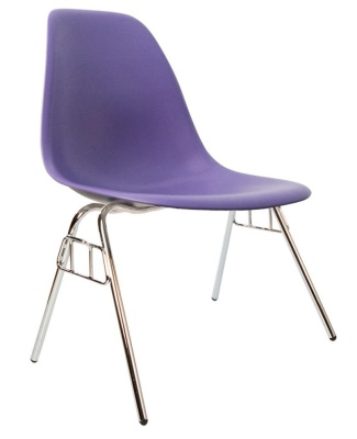 Eames Dss Chair In Purple Angle View