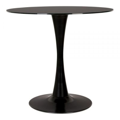 Tulip Black Glass Dining Table