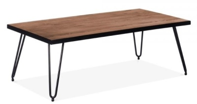 Hairpin Rectangular Low Table 1