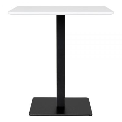 Curzon White Top And Black Base Table 1