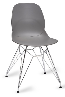 Mackie Chair With A Pyramid Frame Grey