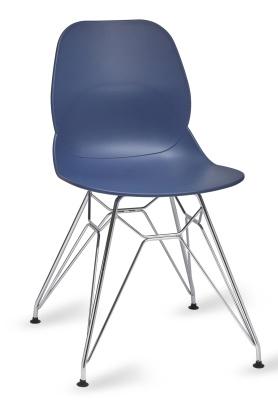 Mackie Chair With A Pyramid Frame Dark Blue