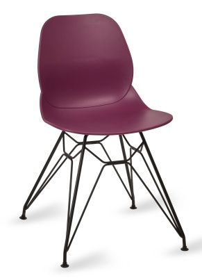 Mackie Ppyramid Chair Plum Shell Black Frame