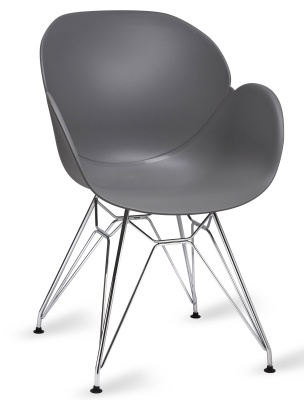 Mackie Pyramid Armchair Grey Shell