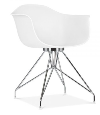Memot Designer Chairs With A White Shell Front Angle