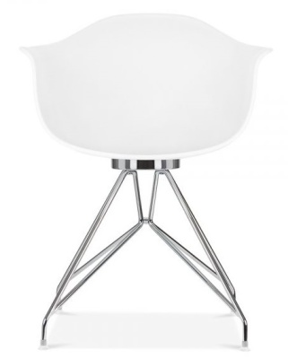 Memot Designer Chair With A White Shell Rear Vview